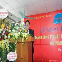 Khai trương chi nhánh Công ty Luật TNHH Đức Minh Hà Nội tại Quảng Ninh